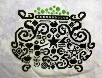 Tribal Cauldron - Cross Stitch Pattern