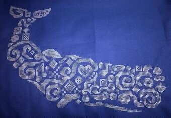 Tribal Sperm Whale - Cross Stitch Pattern