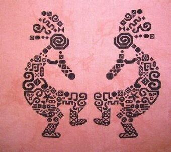 Tribal Kokopelli - Cross Stitch Pattern