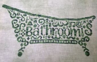 Tribal Bathroom - Cross Stitch Pattern