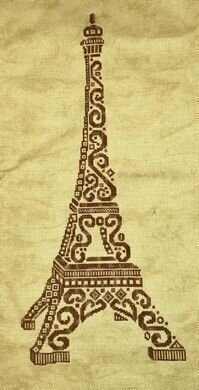 Tribal Eiffel Tower - Cross Stitch Pattern