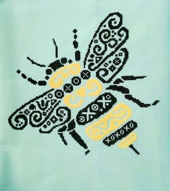 Tribal Bumble Bee - Cross Stitch Pattern