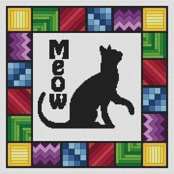 Morning Meow - Cross Stitch Pattern
