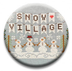 Snow Village Banner - Christmas Zappy Dots Needle Nanny