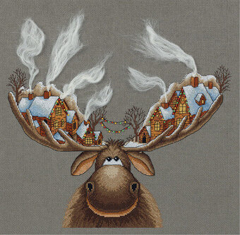 Christmas Moose - Cross Stitch Kit