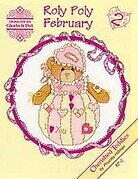 Roly Polys February - Cherished Teddies Cross Stitch Pattern