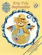 Roly Polys September Cherished Teddies Cross Stitch Pattern
