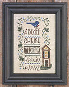Blue Bird Sampler - Cross Stitch Pattern