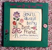 My Best Friend - Cross Stitch Pattern