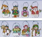 Snowy Day Snowmen - Cross Stitch Pattern