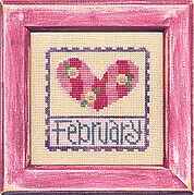 Flip-It Stamp February - Cross Stitch Pattern