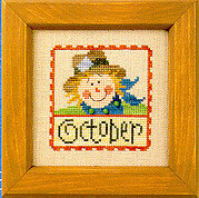 Flip-It Stamp October - Cross Stitch Pattern