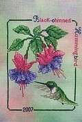 Black Chinned Hummingbird 2007 - Cross Stitch Pattern