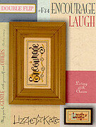 Living Double Flip - Encourage/Laugh - Cross Stitch Pattern