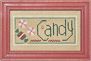 Christmas Spirit Double Flip - Tree/Candy  - Cross Stitch