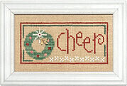 Christmas Spirit Double Flip - Faith/Cheer  - Cross Stitch