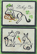 March/April Monthly Britty Kitty - Cross Stitch Pattern