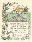 House Blessing (#2581) - Cross Stitch Pattern