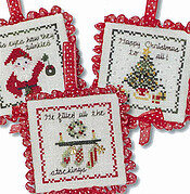 Twas The Night Ornaments IV - Cross Stitch Pattern