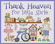 Thank Heaven For Little Girls - Cross Stitch Pattern