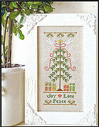 Joy Love Peace - Cross Stitch Pattern