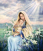 Madonna Of The Lilies (Virgin Mary) - Cross Stitch Pattern