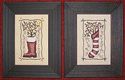 Primitive Greetings - Cross Stitch Pattern