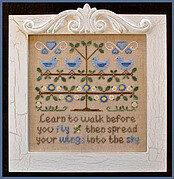 Walk Before You Fly - Cross Stitch Pattern