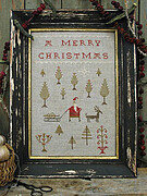Bringing Home The Tree - Cross Stitch Pattern