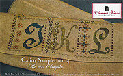 Calico Sampler 4  (J K L) - Cross Stitch Pattern
