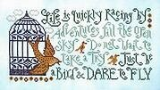Dare to Fly - Cross Stitch Pattern