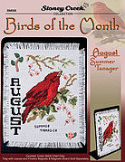 Bird of the Month - August (Summer Tanager) - Cross Stitch