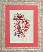 Letters From Mermaids D - Cross Stitch Pattern