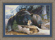 Black Bear Country - Cross Stitch Pattern