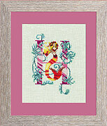 Letters from Mermaids H - Cross Stitch Pattern
