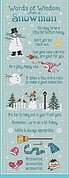 Snowman Wisdom - Cross Stitch Pattern