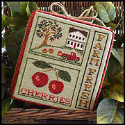 Farm Fresh Cherries - Cross Stitch Pattern
