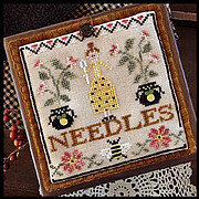 Needle Lady Pocket - Cross Stitch Pattern