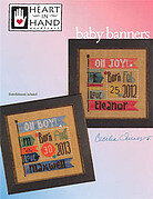 Baby Banners (with embellishments) - Cross Stitch Pattern
