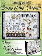 Quote of the Month - May - Cross Stitch Pattern