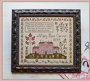 Pink House Sampler - Cross Stitch Pattern
