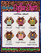 Coffee Chart - Cross Stitch Pattern