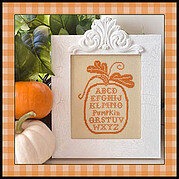Pumpkin Alphabet (with Silk) - Cross Stitch Pattern