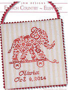 French Country Elephant - Cross Stitch Pattern