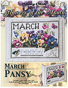 Flowers of the Month March - Cross Stitch Pattern