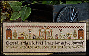 Blessed is the Life - Cross Stitch Pattern