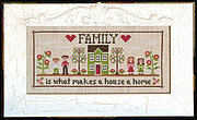 Family Home - Cross Stitch Pattern