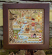 Map of Hawk Run Hollow - Cross Stitch Pattern