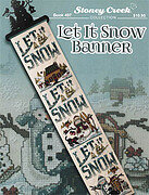 Let it Snow Banner - Cross Stitch Pattern