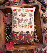 Gathering Acorns - Cross Stitch Pattern